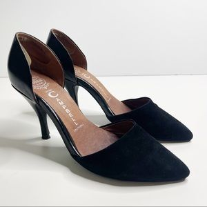Jeffrey Campbell black d'orsay pointed toe pumps 9